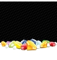 Gemstones and diamonds gambling background vector image