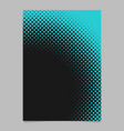 geometric abstract halftone dot pattern flyer vector image vector image