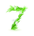 grass letters number 7 vector image vector image