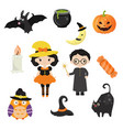 halloween symbols collection halloween symbols vector image vector image