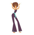 happy girl dancing and having fun at a party vector image vector image