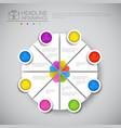 headline infographic chart pie diagram design vector image vector image