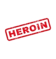 Heroin Text Rubber Stamp vector image vector image