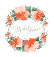 Hibiscus flower wreath vector image