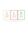 infographic label template with icons 3 vector image vector image