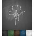 juggler icon Hand drawn vector image vector image