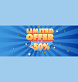 limited offer advertising banner volumetric text vector image