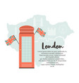 london background design with red phone box vector image