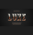 luxury font 3d bold gold style vector image vector image