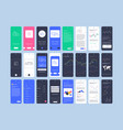 material design mail app kit for mobile vector image vector image