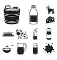 milk product black icons in set collection for vector image