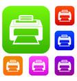 modern laser printer set collection vector image vector image