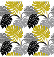 modern seamless pattern with gray black and gold vector image vector image
