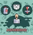 motherhood flat conept icons vector image vector image