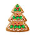 Ornate realistic traditional Christmas tree vector image