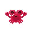 Pink Balloon Crab Character vector image vector image