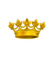 realistic icon of shiny crown with golden gradient vector image