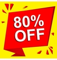 Sale poster with 80 PERCENT OFF text Advertising vector image vector image