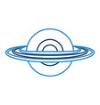 saturn planet isolated icon vector image