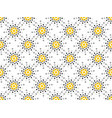 seamless pattern black and yellow dots dotted pop vector image vector image