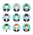 set avatars people office workers vector image