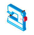 sewing machine isometric icon vector image vector image