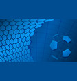 soccer background in light blue colors vector image vector image