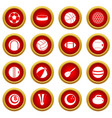 sport balls icon red circle set vector image vector image