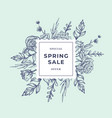 spring sale abstract botanical banner or label vector image