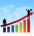 successful of stock market vector image vector image