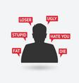 teenager boy victim of cyberbullying vector image vector image