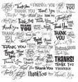 thank you catchwords vector image vector image
