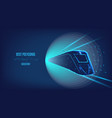train high-speed rail from polygonal triangles vector image