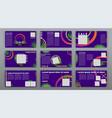 trendy website templates minimal presentation vector image vector image