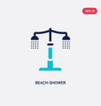 two color beach shower icon from architecture and vector image