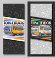 vertical layouts for tow truck vector image