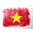 vintage grunge texture flag vietnam vector image