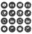 Web navigation icons on retro labels set vector image vector image