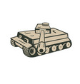 world war two german panzer tank aiming vector image