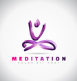 Yoga mediatation pose logo vector image vector image