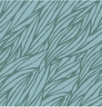 Abstract blue hand-drawn waves seamless pattern vector image