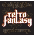3d Fantasy Gothic Font vector image vector image
