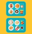 a fast food meal consisting vector image vector image