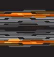 abstract yellow orange circuit grey on black vector image vector image