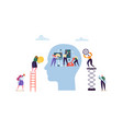 artificial intelligence concept flat characters vector image vector image