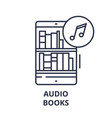 audio books line icon concept audio books vector image vector image