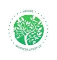 Ayurvedic tree icon alternative medicine vector image vector image