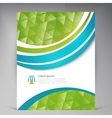 Beautiful Green Flyer vector image vector image