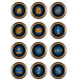Big set web of icons vector image