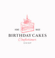 birthday cakes chief premium quality vector image vector image